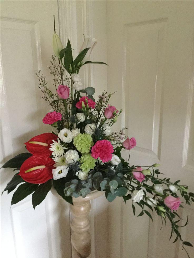 Large arrangement roses,carnations,lily, eustoma anthirrium and chrysanthemum