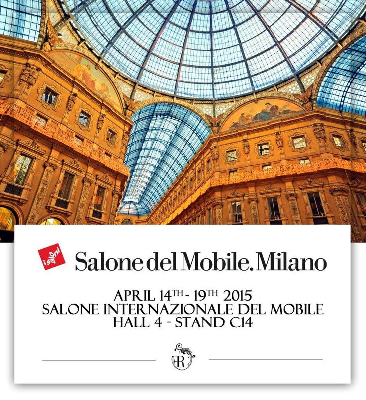 We are pleased to welcome you in our stand at the Milan International Furniture Exhibition. In this occasion we'll be delighted to show you our new collection 2015. We look forward to seeing you! #fratelliradice #design #iSaloni2015 #exhibition #furnituredesign #italy #madeinitaly