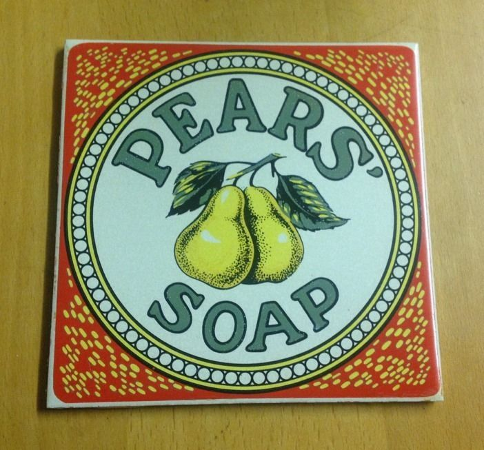 Vintage Pears Advertising Tile by Pilkington - VGC