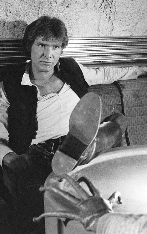 Harrison Ford as Hans Solo. Star Wars episode IV: A New Hope - Cantina bar inspiration