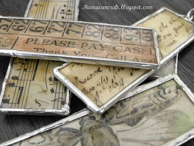 Soldered Memory Pendants tutorial. I so want to try this!