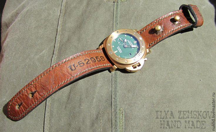 Купить Ремешок для часов - коричневый, натуральная кожа, кожа, кожа натуральная, для часов, ремешок для часов