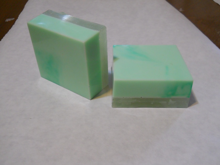 Video Tutorial on how to make this two layered all natural tea tree marble soap, at my website: http://www.glorydaysnaturals.com