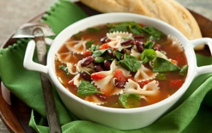 Quick Italian Spinach and Pasta Soup | Recipe