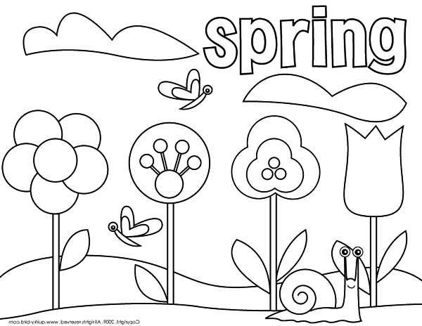 picture of springtime coloring page