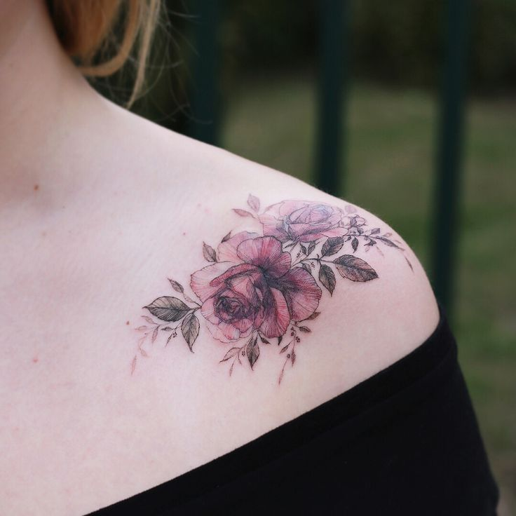 Best Small Tattoo Placement Ideas For Female Small Tattoo Placement Ideas Female Shoulder Tattoos For Women Beautiful Flower Tattoos Flower Tattoo Shoulder