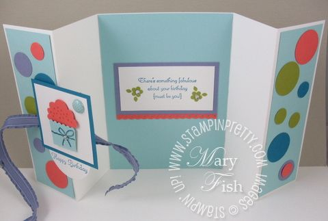 Stampin Up Card Folding Ideas | ... Mary Fish, Stampin Pretty Blog, Stampin Up! Card Ideas & Tutorials