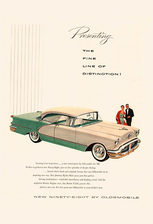 VINTAGE OLDSMOBILE CAR Ad Retro Car Ad by EncorePrintSociety