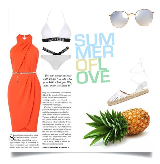 """""""Summer of love"""" by jocely045 ❤ liked on Polyvore featuring Calvin Klein, Maiden Lane and Ray-Ban"""
