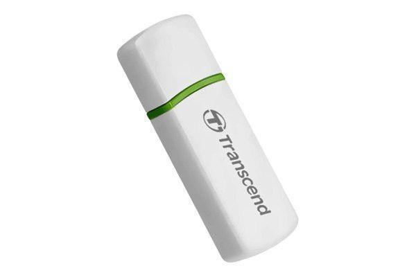 Transcend USB 2.0 FlashCard Reader - Secure Digital (SD) Card, Secure Digital High Capacity (SDHC), MultiMediaCard (MMC), MMCplus, MMCmobile, RS-MMC, microSD High Capacity (microSDHC), microSD, TransFlash, Memory Stick Micro (M2) - USB