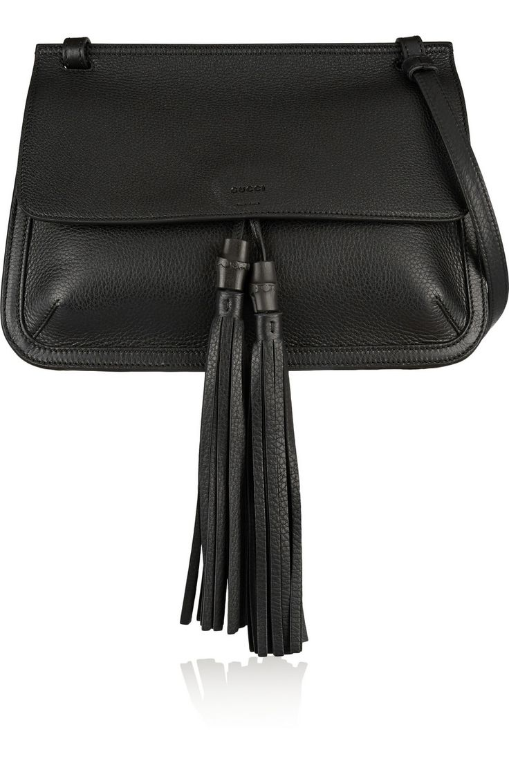 Gucci | Bamboo Daily textured-leather shoulder bag | NET-A-PORTER.COM