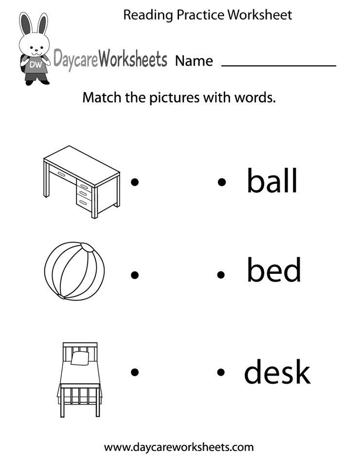 Preschoolers have to match objects with words in this free ...