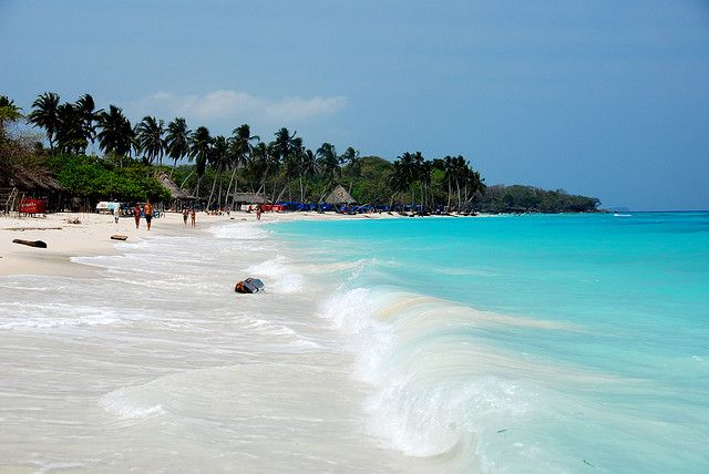 Playa Blanca in Colombia