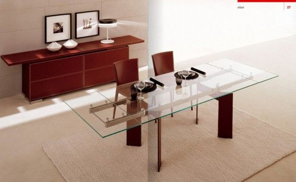 Dining room Cattelan Italia stained wood Italy