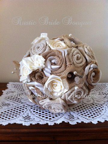 Chloe Country Rustic Hessian Bridal Bouquet – Baroque Bridal Boutique