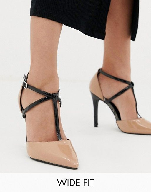 b94da02f776 New Look Wide Fit Pointed Court Shoe in 2019 | Women shoes | Shoes ...