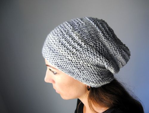 C H R O M I T E - Hat design by Lisa Mutch -   A simple slouchy, winter hat, with just enough garter stitch details to keep things interesting. http://www.ravelry.com/patterns/library/chromite-hat