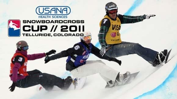 International athletes battle head-to-head in the USANA Snowboardross Cup