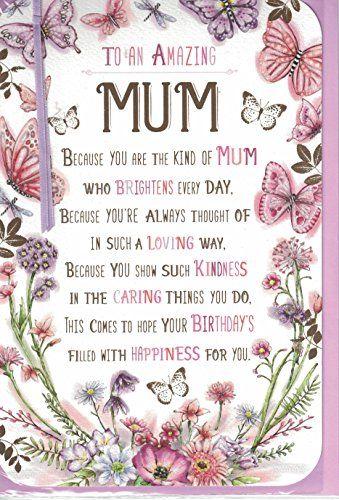 Mum Birthday Card To A Special Mum Happy Birthday 3 D