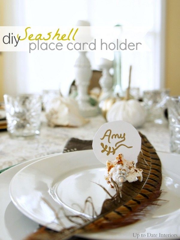 Seashell Place Card Holders - Up to Date Interiors