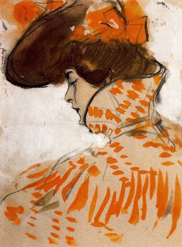 "colourthysoul: "" Ramón Casas i Carbó - Parisina (1900) """