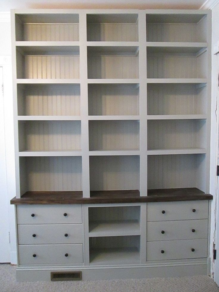 Built-in Bookshelves with RAST drawer base - IKEA Hackers - IKEA Hackers - what an excellent idea! :)