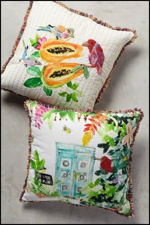 Tropical throw pillows for couch
