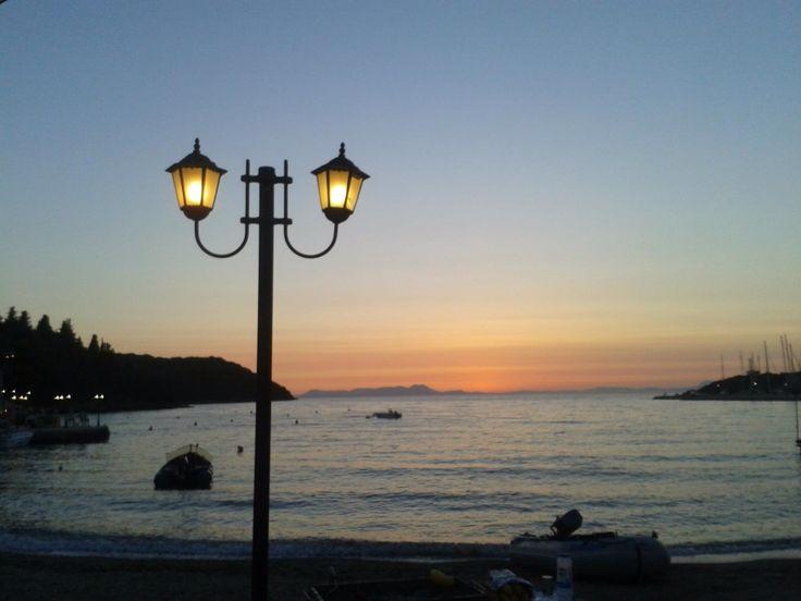 Gorgeous sunset in Sivota, Greece