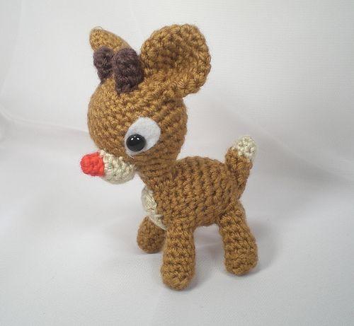 PDF Reindeer Crochet Pattern, Rudolph the Red Nosed Reindeer ...   461x500