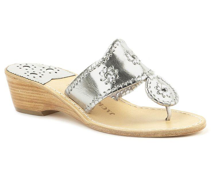 Jack Rogers Navajo Women's Platinum Leather Thong Sandals