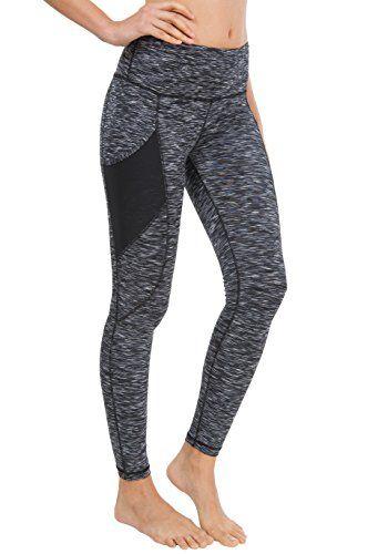 115686f48b05d Women Yoga Leggings Power Flex Mesh High Waist 3 Phone Pocket Gym Running  Tights