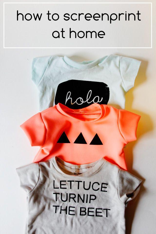 Wie Siebdruck zu Hause, Grafik-T-Shirts für Baby und eine Silhouette Porträt Werbegeschenk!