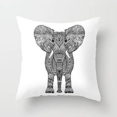 ELEPHAnT Throw Pillow by Monika Strigel - $20.00