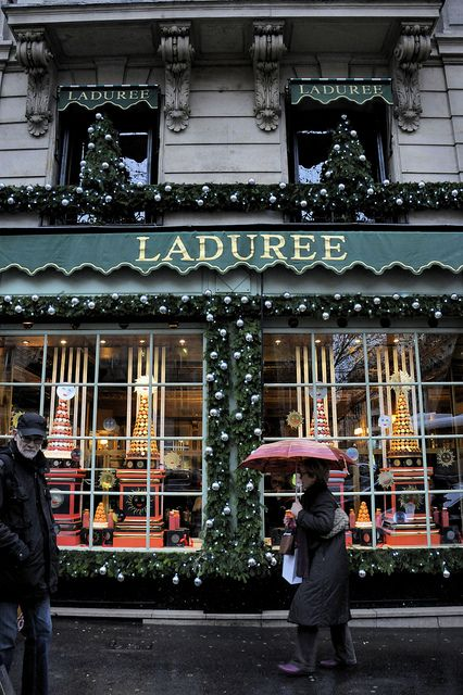 Ladurée Christmas, Paris, France.