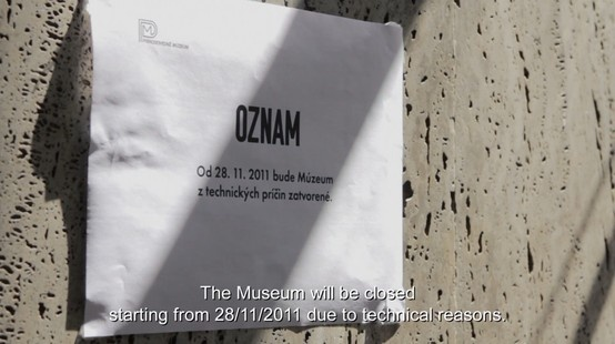 Komu typeface was used in another movie! Vystava (The Exhibition).