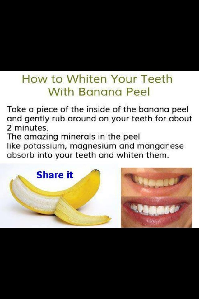 banana skin for teeth