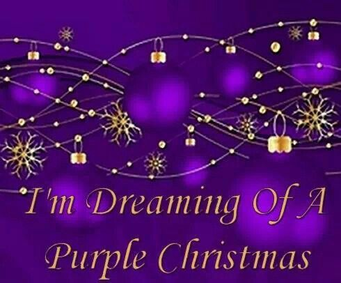 I'm Dreaming Of A Purple Christmas