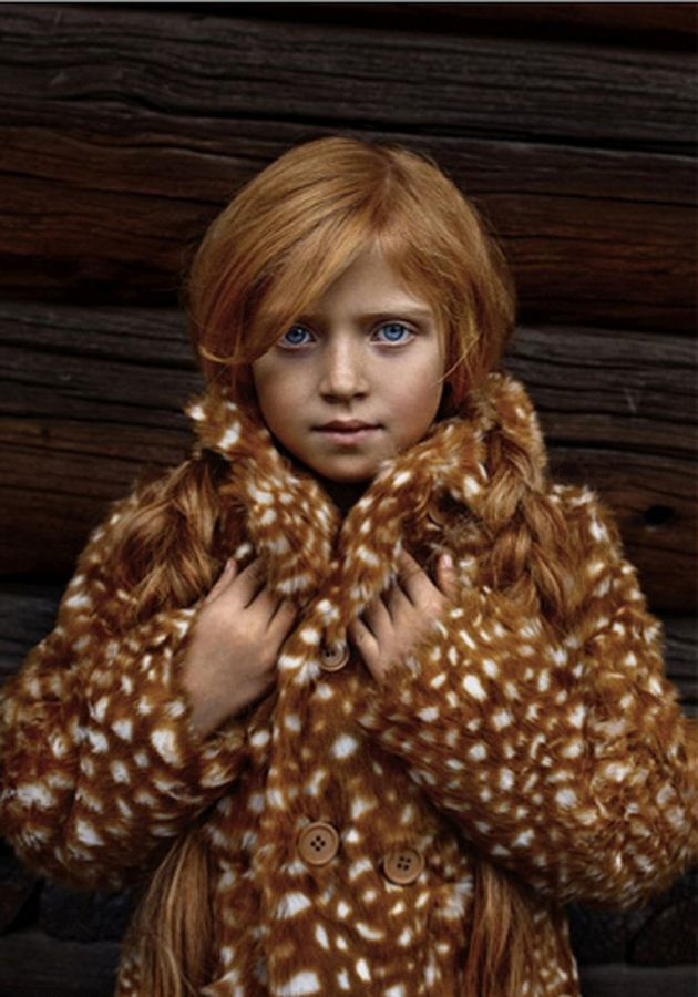The Cambridge Faux Fur photographed by Karolina Henke for La Petite Magazine. Mini Rodini