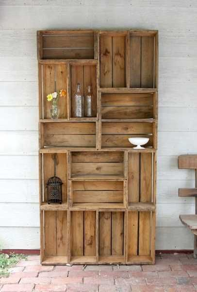 Love this idea... all you need to know is how to hammer a nail storage furniture made of reclaimed wood