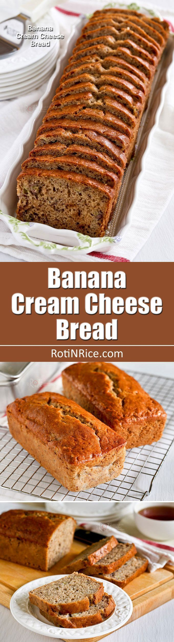 Cream cheese gives this Banana Cream Cheese Bread an even and tender texture. Very moist and deliciously satisfying. Great any time of…