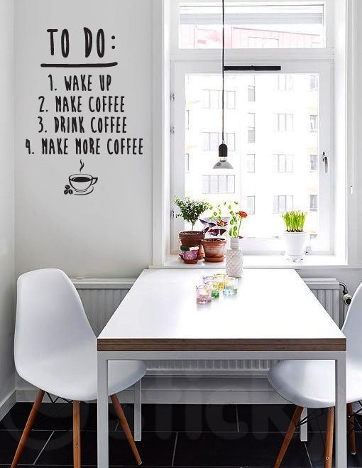 Wall Sticker MORE COFFEE by Sticky!!!