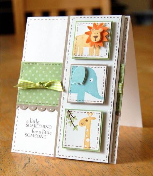 Super adorable handmade baby card!