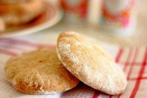 Pan de pita integral en sartén, receta paso a paso