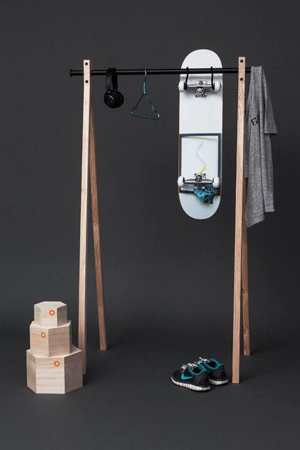 Dress-up garment rack, balsaboxes, alu hanger