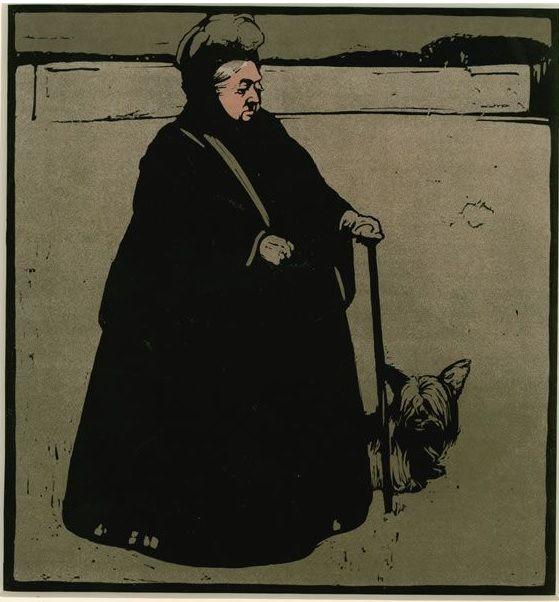 #William #Nicholson #Queen #Victoria 1899  #Lithographic reproduction of a #handcoloured #woodcut #art #modern #British #monarch #LLFA