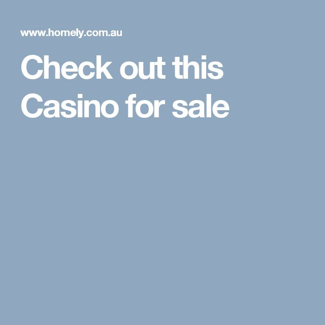 Check out this Casino  for sale