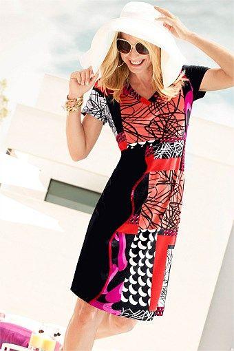 Dresses   Buy Women's Dresses Online - Capture European Multi Print Dress