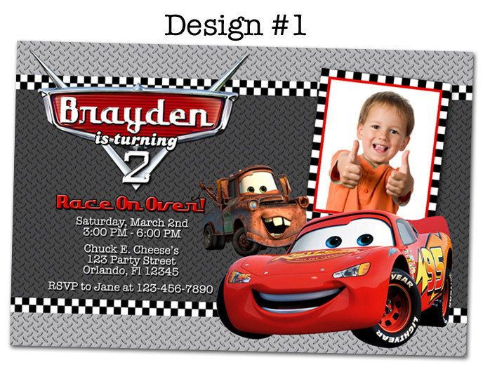 Cars Invitation Card Template Free: 32 Best McQueen Birthday Images On Pinterest