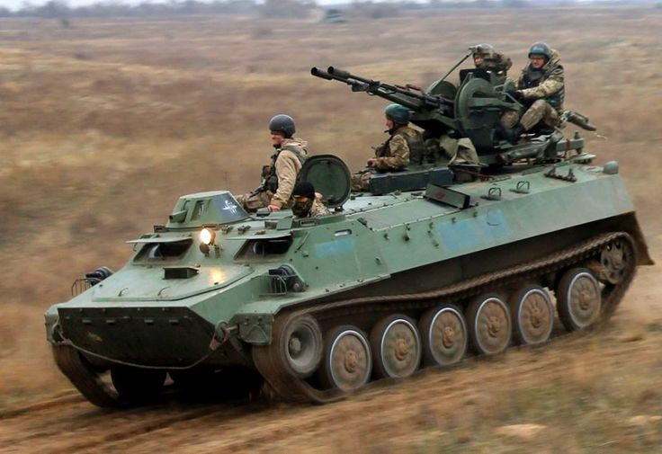MTLB with ZU-23 a highly mobile airborne troops of Ukraine