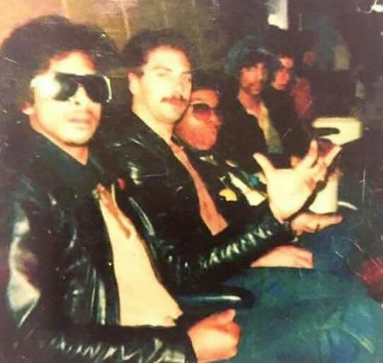 Very rare pic of Prince with band member Andre Cymone, Bobby Z Rivkin, Dez Dickerson and Matthew Fink aka Dr. Fink. Picture taken in 1979.